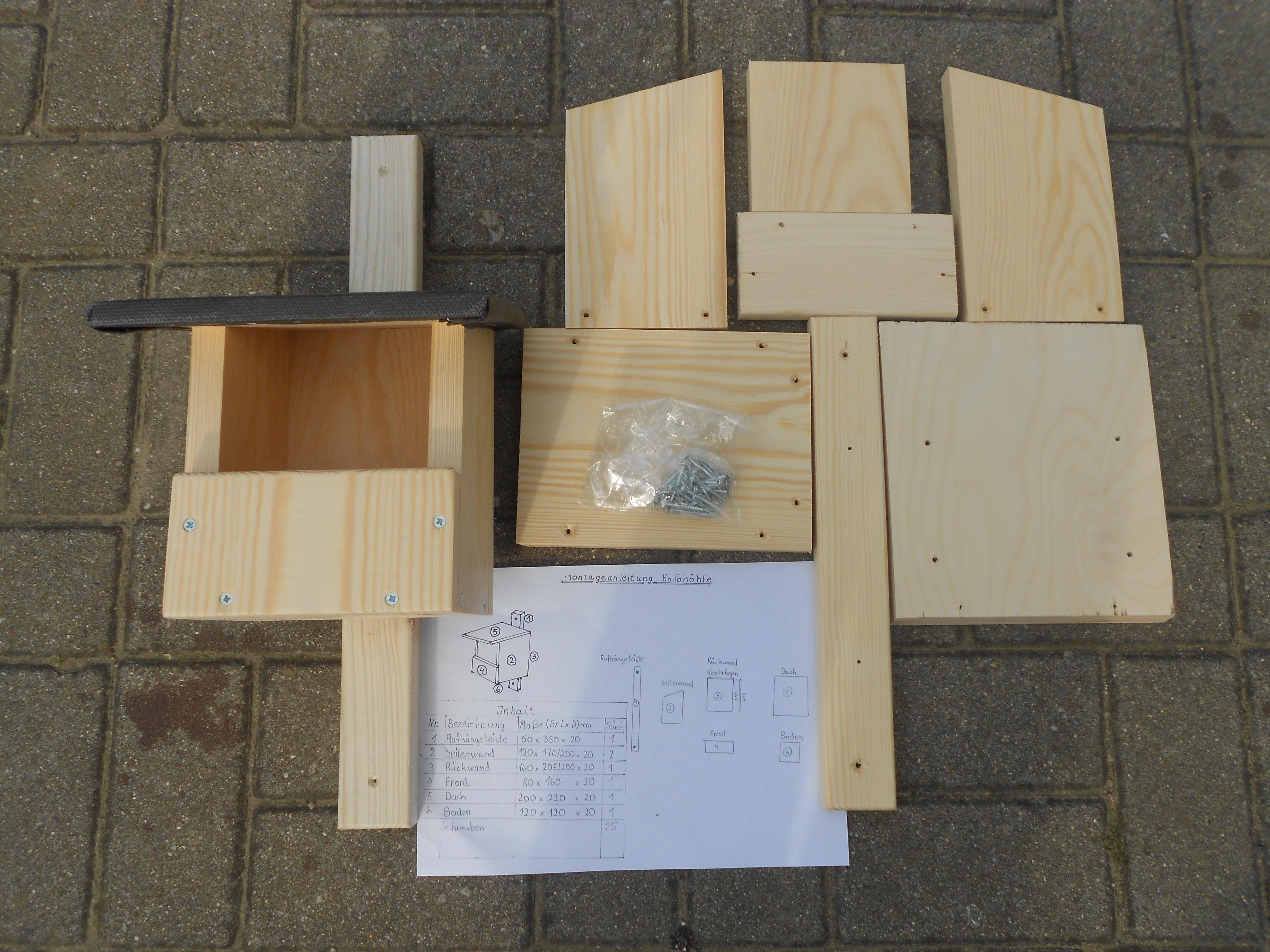 Bausatz Nistkasten Halbhöhle