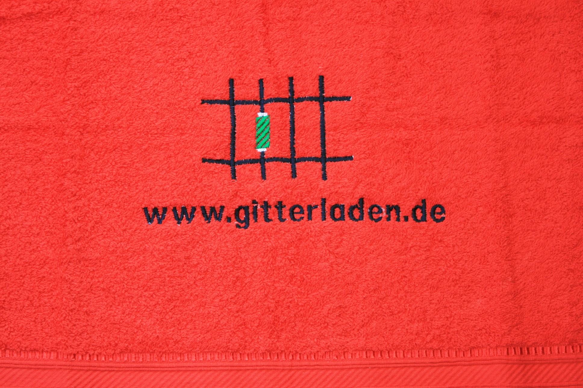 Handtuch Motiv Gitterladen