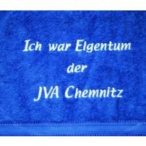 Handtuch Motiv Ich war Eigentum der JVA Chemnitz