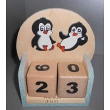 Wuerfelkalender Pinguin