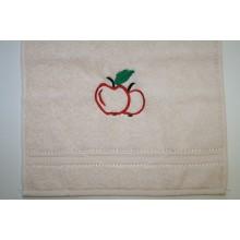 Gästehandtuch mit hochwertiger Stickerei Apfel