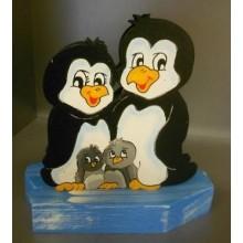 LED Nachtlicht Familie Pinguin