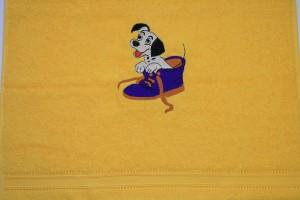 Handtuch Motiv Kleiner Hund