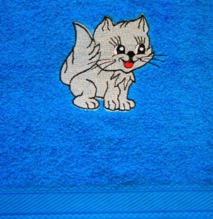 Handtuch Motiv Kleine Katze