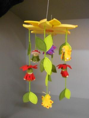 Mobile Blumenkinder
