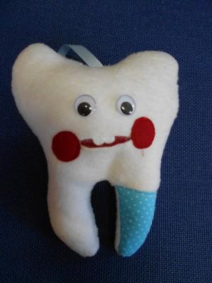Zahnfeekissen blau fuer Jungen